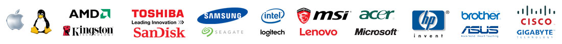 Just a few of the Top Quality Name Brands NBCS uses!