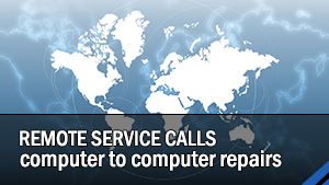 Remote calls to repair your system, no tech on site.